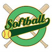 Softball With Tail Banner poster
