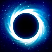 Постер, плакат: Black Hole in Outer Space Distant Galaxy