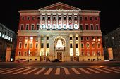 foto of yuri  - House Of Moscow City Government At Night - JPG