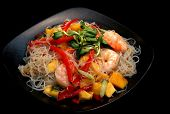 stock photo of thai food  - this is a lovely dish a thai noodle salad a full meal delight - JPG