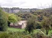 foto of chepstow  - view of river wye near chepstow wales - JPG