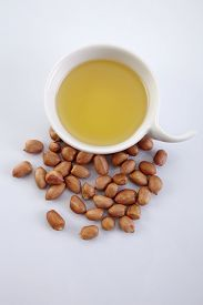 picture of ground nut  - bowl of oil and ground nut - JPG