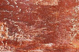 stock photo of rusty-spotted  - Old rusty square metal orange - JPG