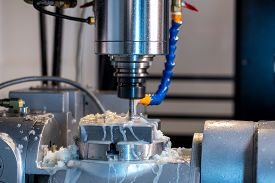foto of grease  - Milling machine - JPG