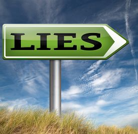 stock photo of promises  - lies breaking promise break promises cheating and deception lying  