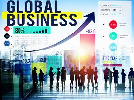 pic of globalization  - Global Business International Networking Cooperation Concept - JPG