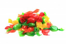picture of bonbon  - color bonbons isolated on the white background - JPG