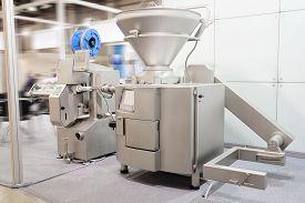 foto of bakeshop  - Industrial dough mixer in bakery - JPG