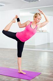 picture of shiva  - Girl practicing yoga - JPG
