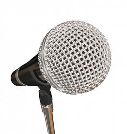 pic of karaoke  - Microphone on Stand Stage Performance Singing Karaoke Stand Up Comedy - JPG