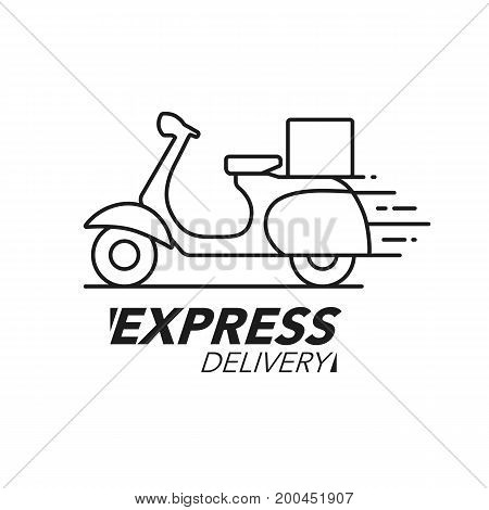 Express Delivery Icon Concept Scooter
