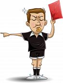 pic of referee  - illustration of a soccer referee whistles - JPG