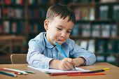 Preschool Boy Drawing poster