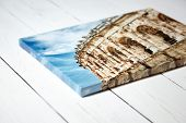 Canvas Print. Photo With Gallery Wrap Method Of Canvas Stretching On Stretcher Bar. Photography With poster