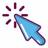 Cursor Click Icon. Cartoon Illustration Of Cursor Click Icon For Web poster