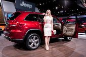 CHICAGO - FEB 12: The 2013 Jeep Grand Cherokee on display at the 2012 Chicago Auto Show. February 12