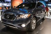 CHICAGO - FEB 12: The 2013 Nissan Pathfinder on display at the 2012 Chicago Auto Show. February 12,