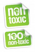pic of non-toxic  - Non toxic product stickers set - JPG