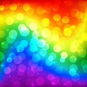 Lgbt Color Blur Bokeh Festive Background, Rainbow Colorful Abstract Graphic For Bright Design. Gay L poster