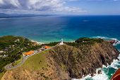 Aerial View Of Wategoes Beach At Byron Bay With Lighthouse. The Photo Was Taken Out Of A Gyrocopter, poster