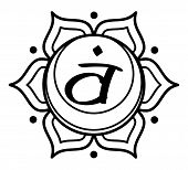 Svadhisthana Sacral Chakra Sexual Cross Center Polarity poster