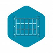 Yard Fence Icon. Outline Illustration Of Yard Fence Vector Icon For Web poster