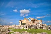 Erechtheion Temple Acropolis, Athens, Greece, With Famous Caryatides. Tilt-shift Image. This Image I poster
