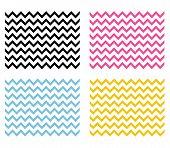 4 Chevron Seamless Patterns. Chevron Background. Zig Zag Texture.. poster