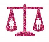 stock photo of gender  - Gender Equality Concept in Word Collage - JPG