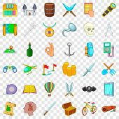 Archeology Icons Set. Cartoon Style Of 36 Archeology Vector Icons For Web For Any Design poster