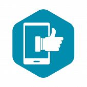 Super Phone Icon. Simple Illustration Of Super Phone Vector Icon For Web poster