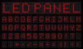 Creative Vector Illustration Of Led Digital Alphabet, Font, Electronic Number Digital Display, Lette poster