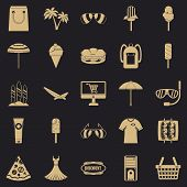 Shopping Tour Icons Set. Simple Set Of 25 Shopping Tour Vector Icons For Web For Any Design poster
