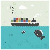 pic of oversize load  - sea transport  - JPG