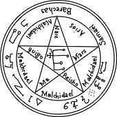 pic of pentacle  - Esoteric black symbol on a white background - JPG