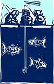 Постер, плакат: лед рыбалка инуитов
