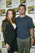 SAN DIEGO, CA - JULY 13: Katie Cassidy and Stephen Amell arrive at the 2012 Comic Con convention pre
