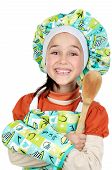 Small Cook Girl With Scoop poster