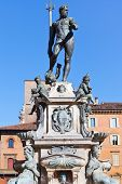 Fountain Of Neptune With Blue Sky Background, Bologna