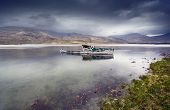 stock photo of bute  - Boat wreck on Loch Scridain - JPG