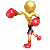 stock photo of pugilistic  - A Boxing Concept And Presentation Figure In 3D - JPG