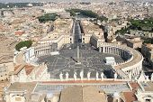 Breath Taking Panoramic View Of St. Peter's Square In Vatican City