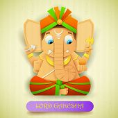 picture of ganesh  - illustration of statue of Lord Ganesha made of paper for Ganesh Chaturthi - JPG