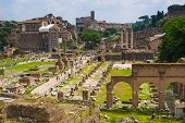 View Of Forum Romanum In Rome. Italy.