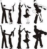 stock photo of jive  - partner dance competition  - JPG
