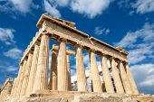 picture of parthenon  - Parthenon on the Acropolis in Athens Greece - JPG