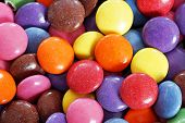foto of easter candy  - Colorful food background delicious  candy coated chocolate - JPG