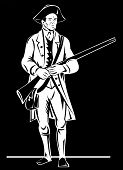 pic of revolutionary war  - vector illustration of an American Revolutionary soldier - JPG