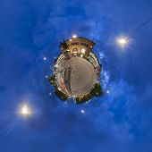 Ernst-August Plaza in Hannover. Little Planet.