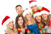 picture of christmas party  - Happy funny people - JPG